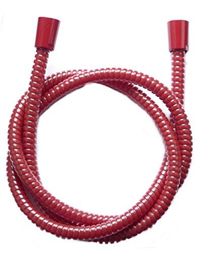 Brauseschlauch rot, roter Duschschlach, 2m Duschschlauch rot